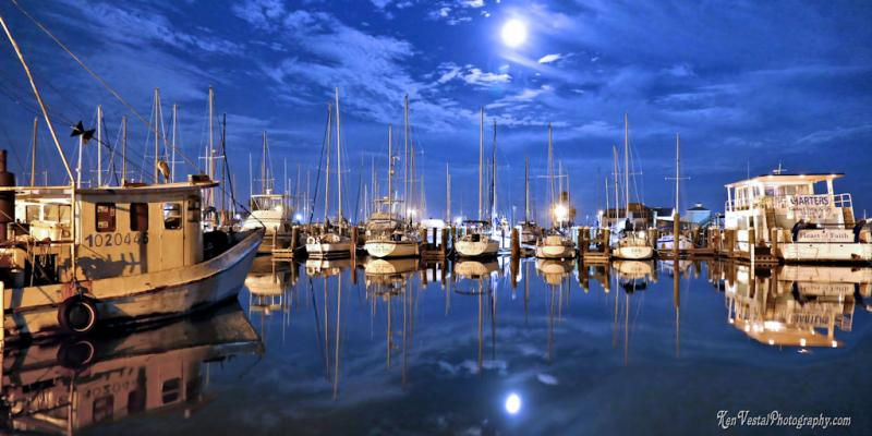 Rockport Harbor Supermoon -- 1x2
